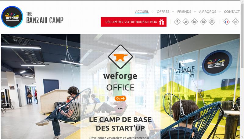 Capture d'écran du site de Weforge