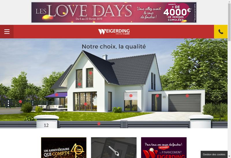 Capture d'écran du site de Weigerding