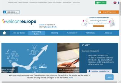 Site internet de Welcomeurope