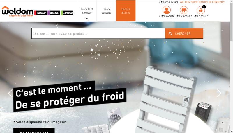Capture d'écran du site de Domaxel