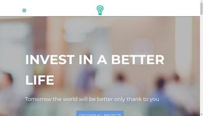 Site internet de Wellfundr Crowdfunding