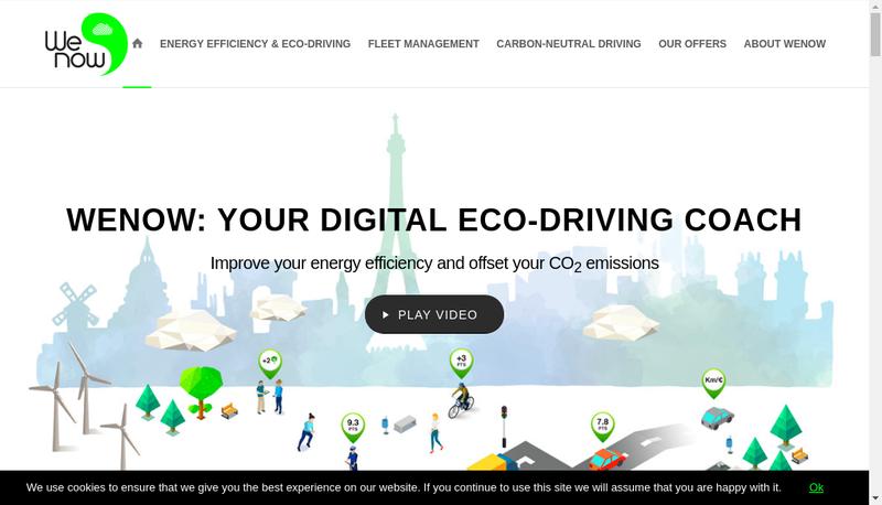 Capture d'écran du site de Wenow