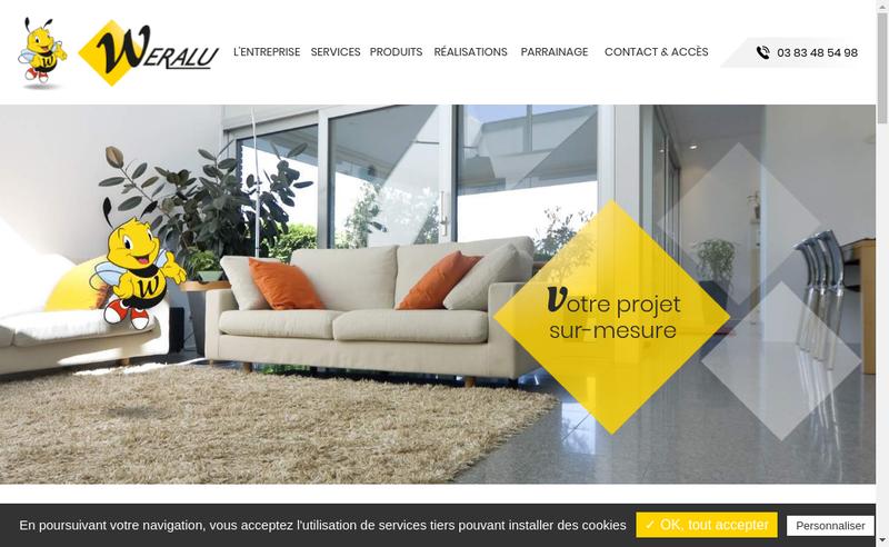Capture d'écran du site de Weralu