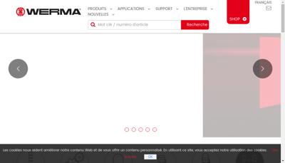 Capture d'écran du site de Werma