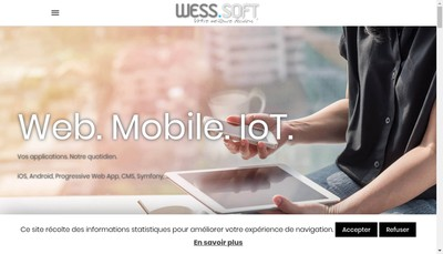 Site internet de Wess Soft