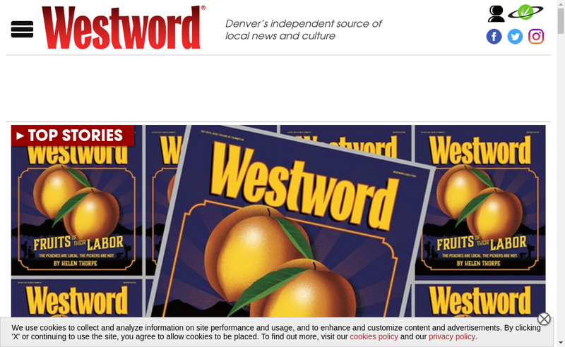 Capture d'écran du site de Westword