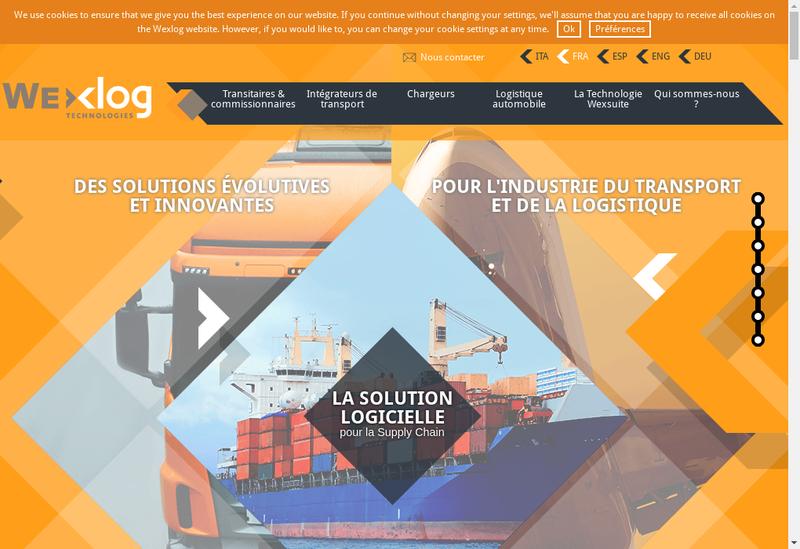 Capture d'écran du site de Wexlog France