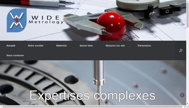 Capture d'écran du site de Wide Metrology