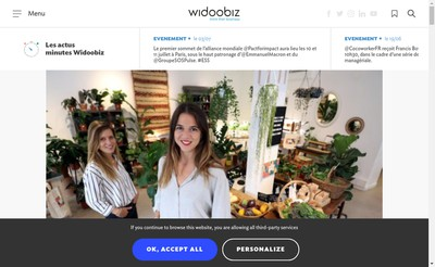 Site internet de Widoobiz