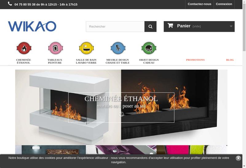 Capture d'écran du site de Waterlux - Bio Design - Teckwood