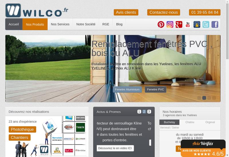 Capture d'écran du site de À Wilco