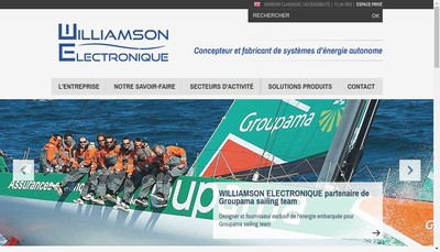 Site internet de Williamson Electronique