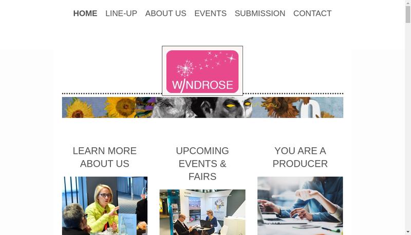 Capture d'écran du site de Windrose