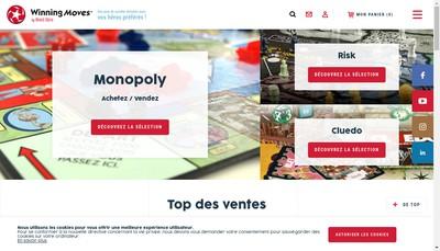 Site internet de Winning Moves France