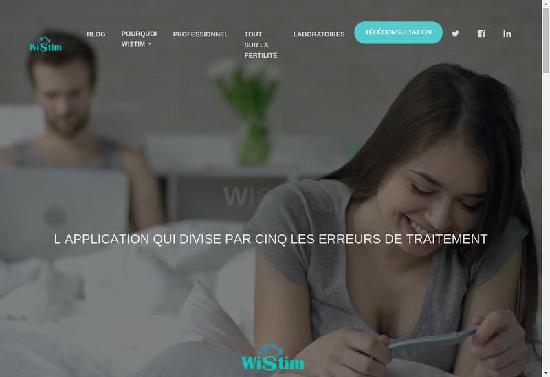 Capture d'écran du site de Wistim