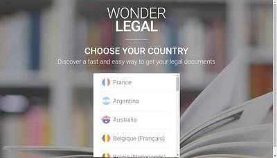 Site internet de Wonder Legal