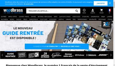 Site internet de Woodbrass Com