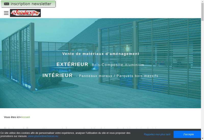 Capture d'écran du site de Woodexpo