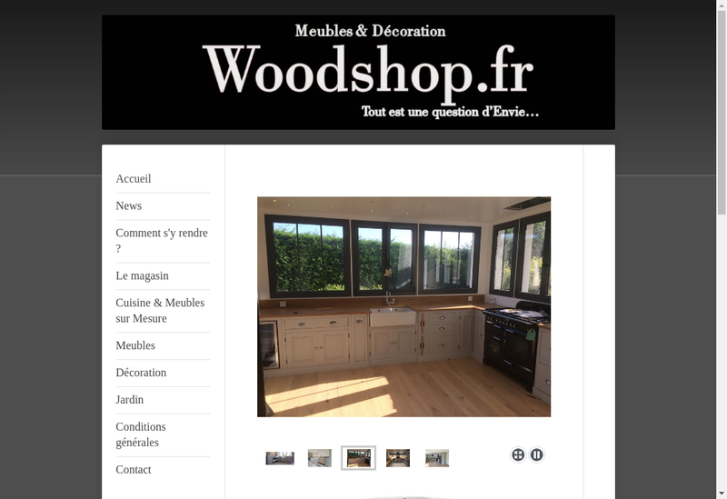 Capture d'écran du site de Woodshop