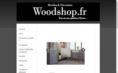 Site internet de Woodshop