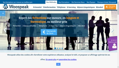 Site internet de Woospeak