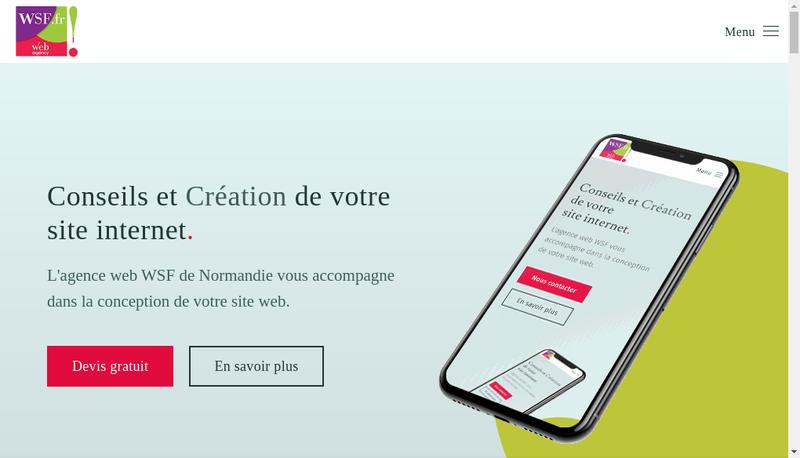 Capture d'écran du site de Wsf Bni
