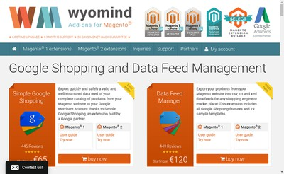Site internet de Wyomind