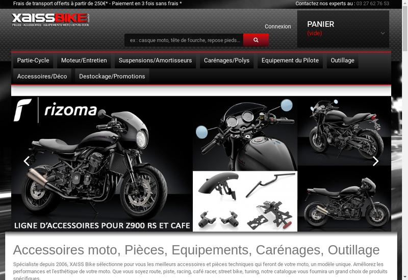 Capture d'écran du site de X-Aiss Bike