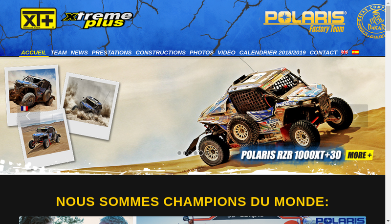 Capture d'écran du site de Xtreme Plus