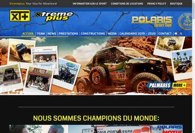 Site internet de Xtreme Plus