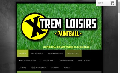 Site internet de Xtrem Loisirs Paintball