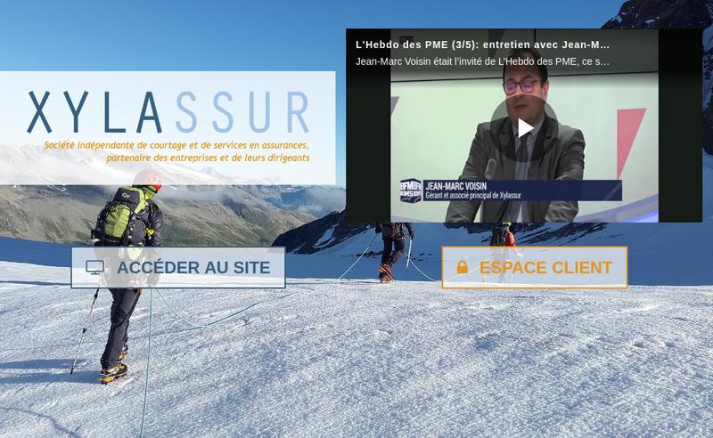 Capture d'écran du site de Logisticassur