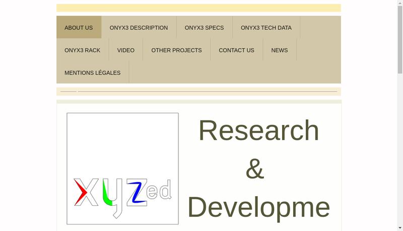Capture d'écran du site de Xyzed