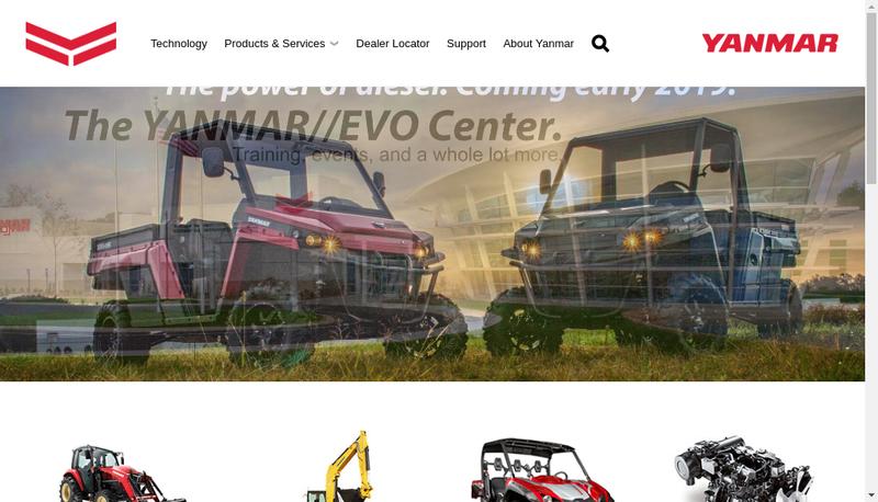 Capture d'écran du site de Yanmar Construction Equipment Europe