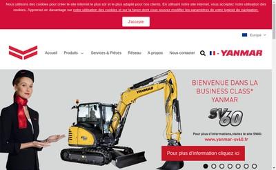 Site internet de Yanmar Construction Equipment Europe