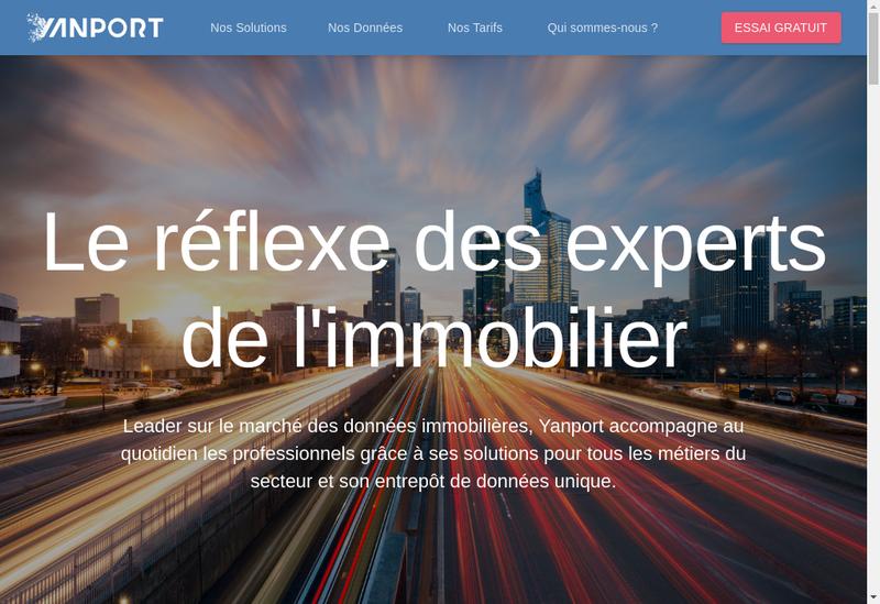 Capture d'écran du site de Yanport