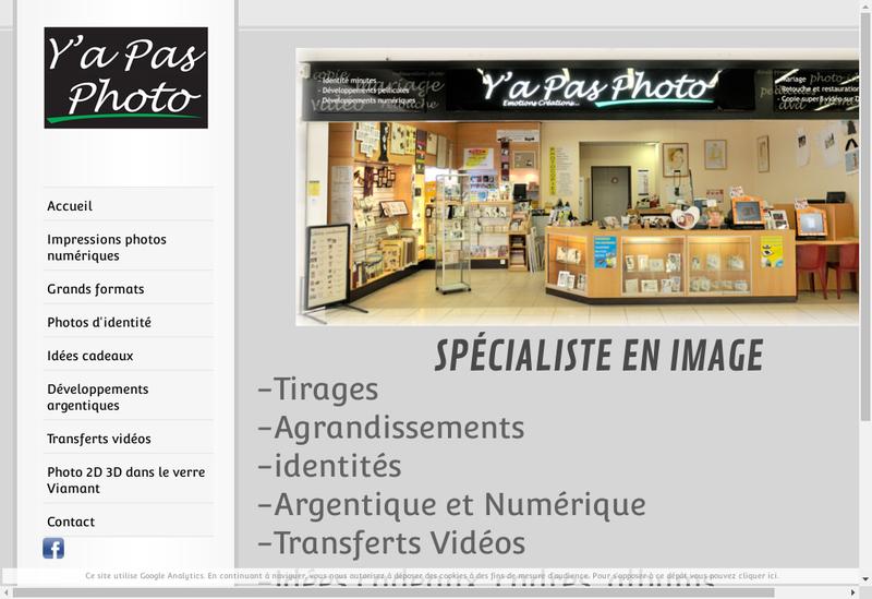 Capture d'écran du site de Y'a Pas Photo
