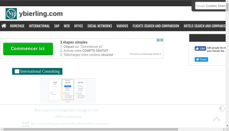 Capture d'écran du site de Yoann Bierling