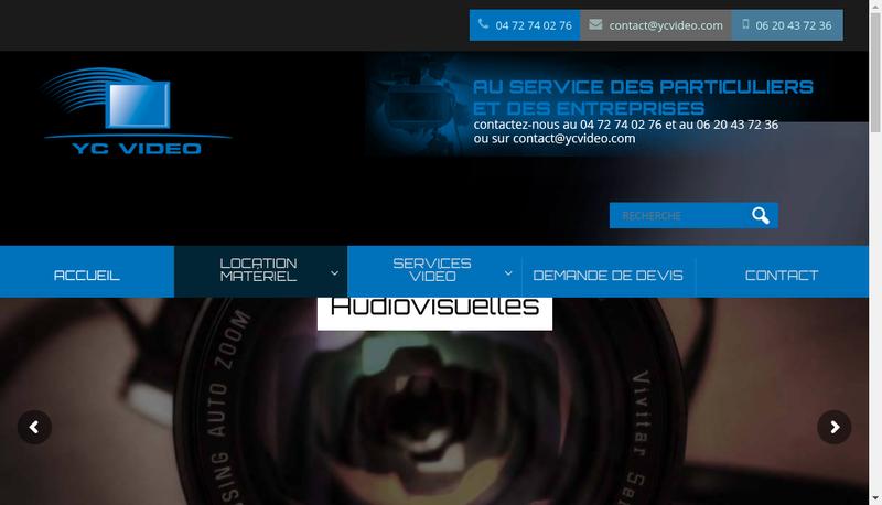 Capture d'écran du site de YC Video