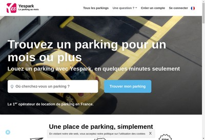 Site internet de Yespark
