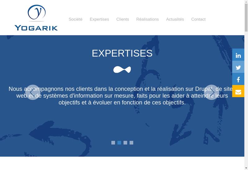 Capture d'écran du site de Yogarik