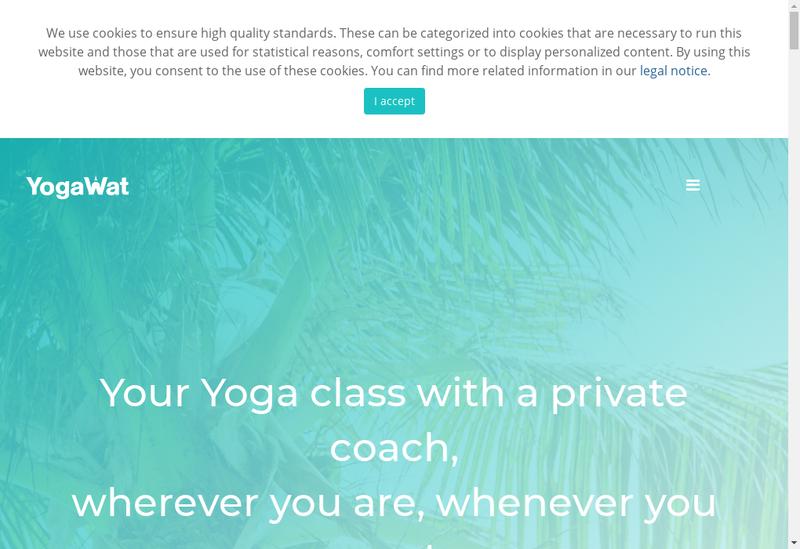 Capture d'écran du site de Yogawat