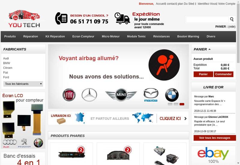 Capture d'écran du site de Fatima Dadi