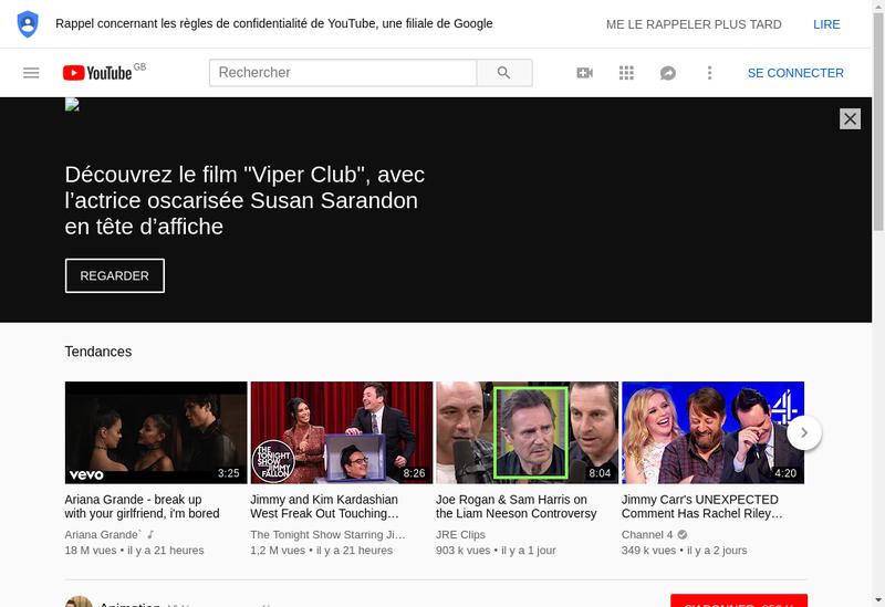 Capture d'écran du site de TEEN