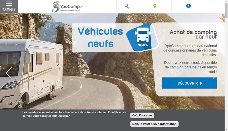 Capture d'écran du site de Ypo Camp Espace Cecv