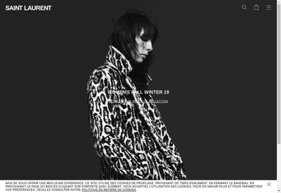 Site internet de Yves Saint Laurent Boutique France