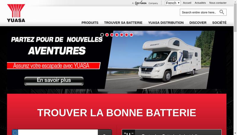 Capture d'écran du site de Gs Yuasa Battery France SAS