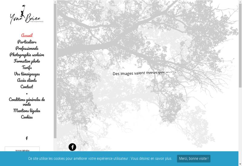 Capture d'écran du site de Yvan Brien Photographies