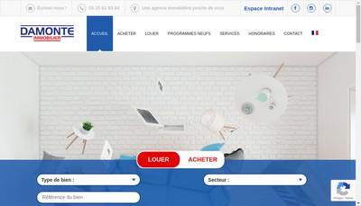 Site internet de Yves Damonte Immobilier