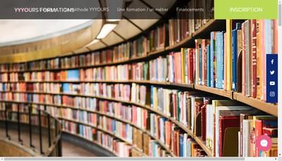 Site internet de Yyyours Formations